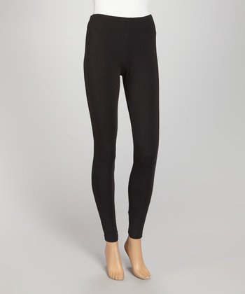 Black Opaque Leggings
