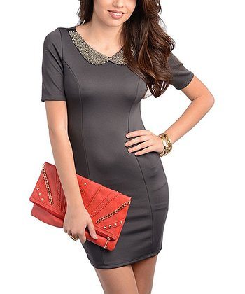 Charcoal Embellished Dress