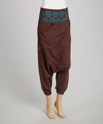 Chocolate Patchwork Harem Pants
