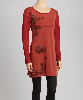 Rust Graphic Tunic