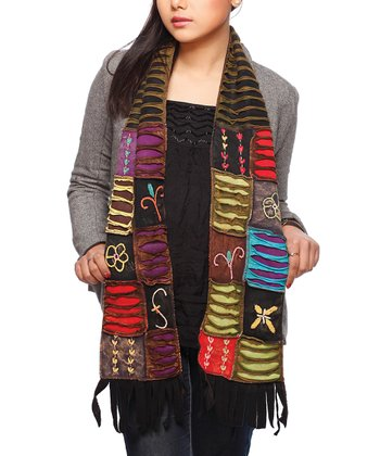 Black & Brown Patchwork Scarf