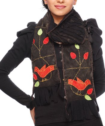 Black & Brown Bird Scarf