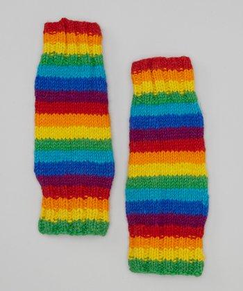 Rainbow Wool Leg Warmers