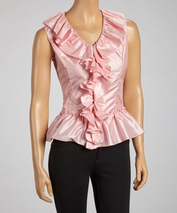 Rose Ruffle Peplum Top