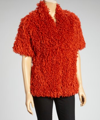 Tiger Lily Faux Fur Short-Sleeve Jacket