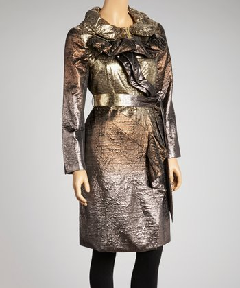 Gold Nugget Ombré Coat - Women