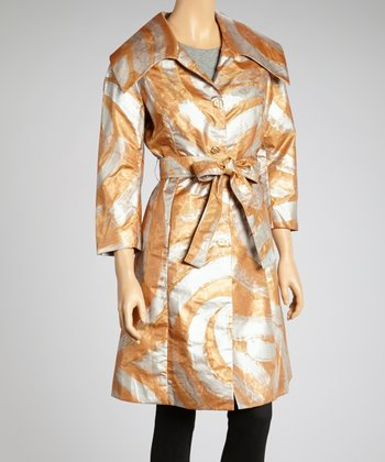 Gold & Honey Button-Up Swing Coat