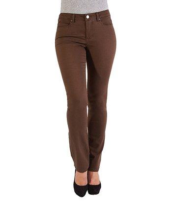 Liverpool Jeans Company Dark Roast Sadie Straight-Leg Jeans