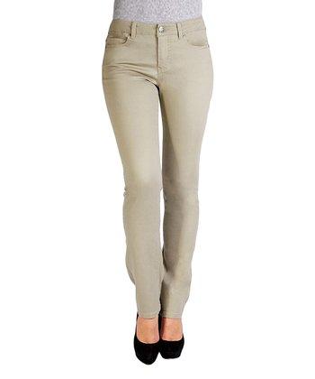 Liverpool Jeans Company Silver Sage Sadie Straight-Leg Jeans