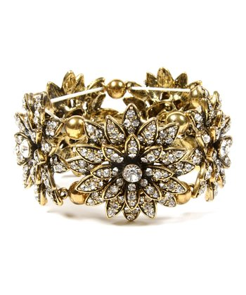 Antique Gold Farrah Stretch Bracelet