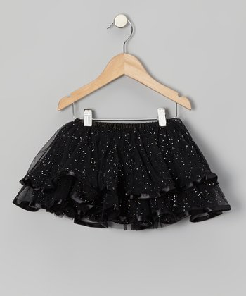 Black Glitter Tutu - Toddler & Girls