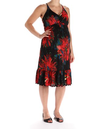 Red Cha Cha Maternity Dress