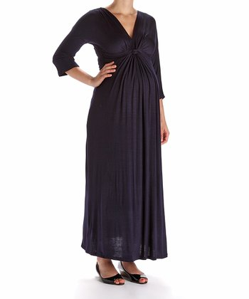 Navy Maxi Maternity Dress