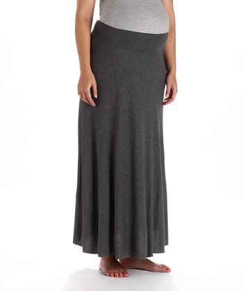 Gray Maternity Skirt