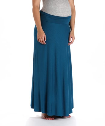 Teal Maternity Skirt