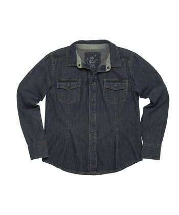Vintage Wash Denim Button-Up - Women