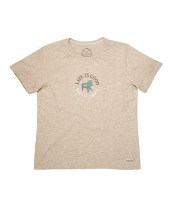 Heather Latte 'Keep It Simple' Crusher Tee - Women
