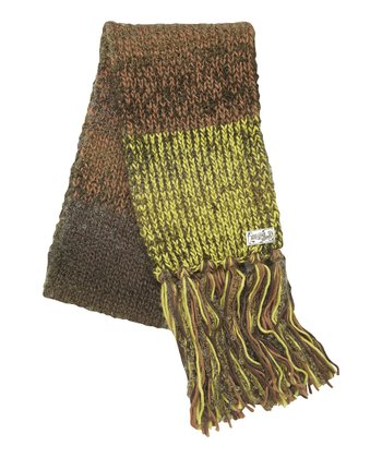 Dark Brown Bouclé Scarf - Women