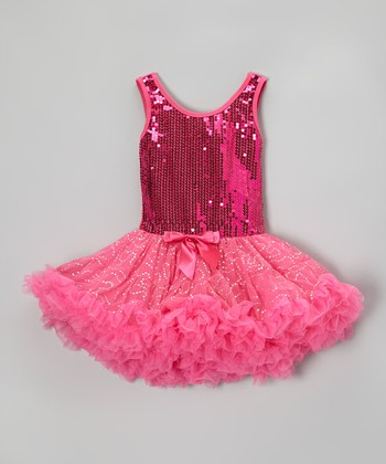 Hot Pink Sparkle Pettiskirt Dress - Toddler