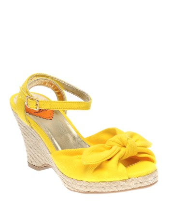 Yellow Set Sail Karisma Wedge Sandal