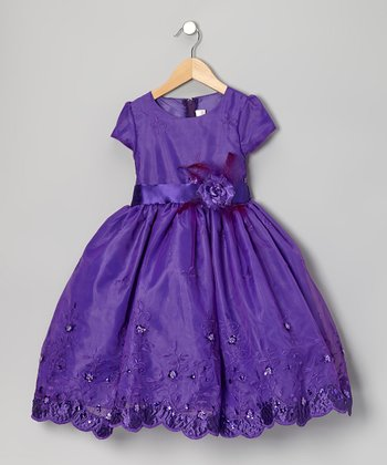 Purple Garden Dress - Girls