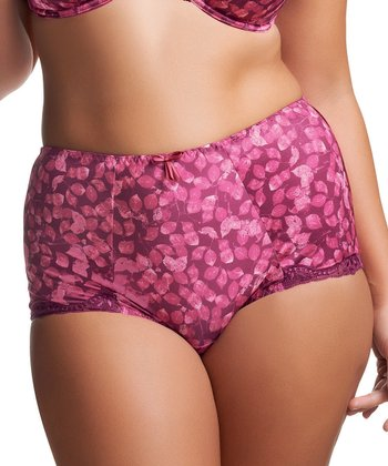 Purple Leaf Briony High-Waist Briefs - Women & Plus