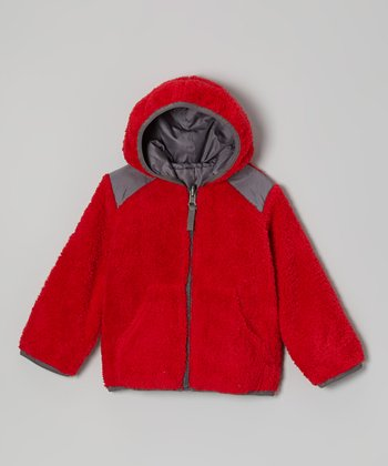 Red Reversible Jacket - Boys