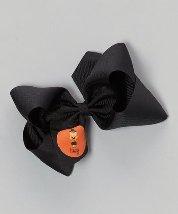 Black Blonde Witch Personalized Bow Clip