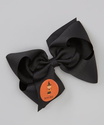 Black Brunette Witch Personalized Bow Clip