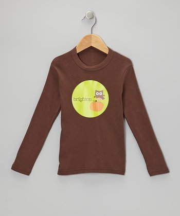 Brown Owl Personalized Long-Sleeve Tee - Infant, Toddler & Girls