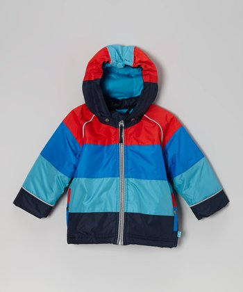 Blue Stripe Fabel Reier Jacket - Infant, Toddler & Boys