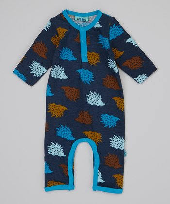 Blue Porcupine Playsuit - Infant