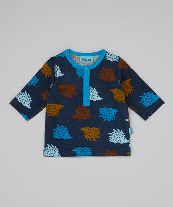 Blue Porcupine Top - Infant