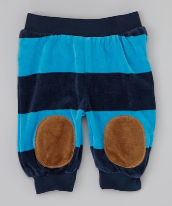 Blue Stripe Bibba Pants - Infant