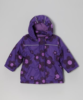 Royal Purple Flower Rasmine Jacket - Infant, Toddler & Girls