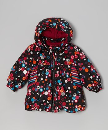 Black Star Ritza Puffer Coat - Toddler & Girls