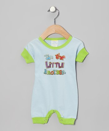 Light Blue 'I'm the Little Brother' Romper - Infant