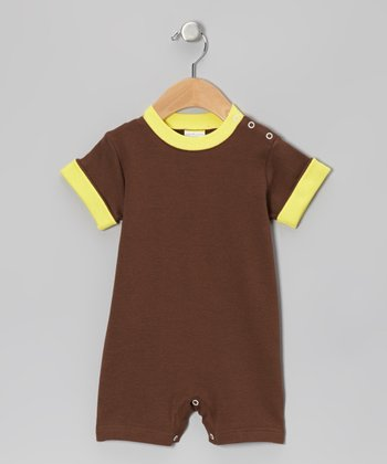 Brown & Yellow Romper - Infant