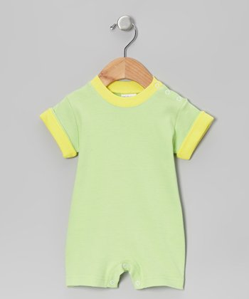 Mint & Yellow Romper - Infant