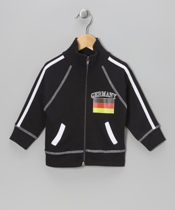 Black 'Germany' Flag Jacket - Infant, Toddler & Kids