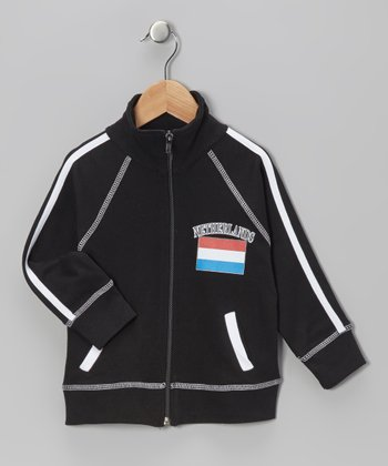 Black 'Netherlands' Flag Jacket - Infant, Toddler & Kids