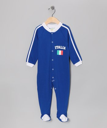 Royal 'Italia' Flag Footie - Infant