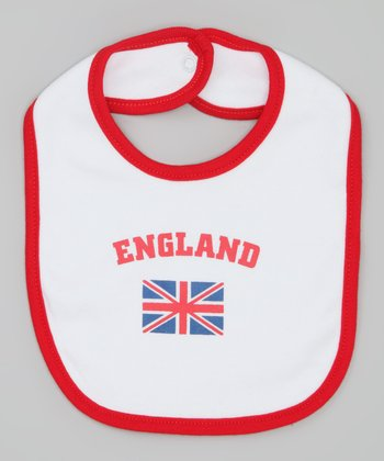 Red 'England' Flag Bib