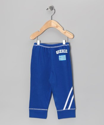 Royal 'Greece' Flag Pants - Infant, Toddler & Kids