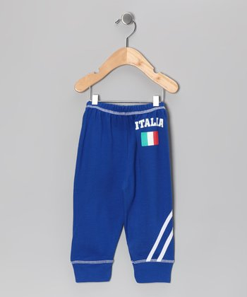 Royal 'Italia' Flag Pants - Infant, Toddler & Kids