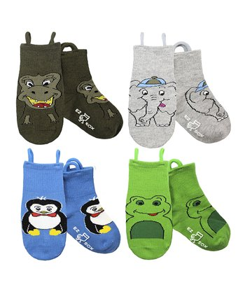 Multicolor Animal Kingdom Socks Set - Kids