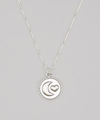 Tiny Treasures  Sterling Silver 'I Love You to the Moon and Back' Necklace