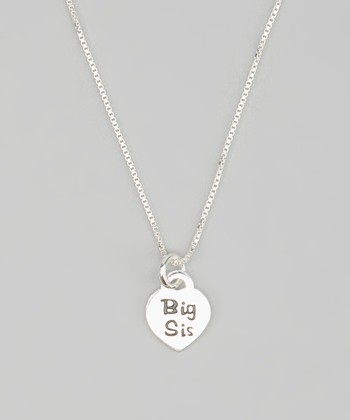 Tiny Treasures  Sterling Silver 'Big Sis' Pendant Necklace