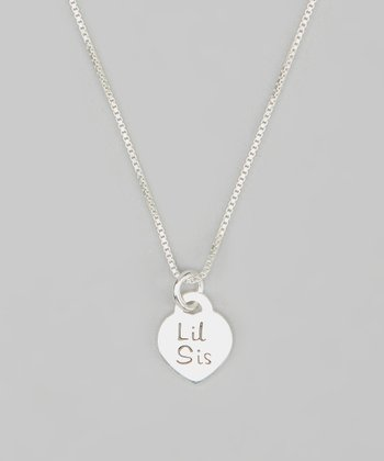 Tiny Treasures  Sterling Silver 'Lil Sis' Pendant Necklace
