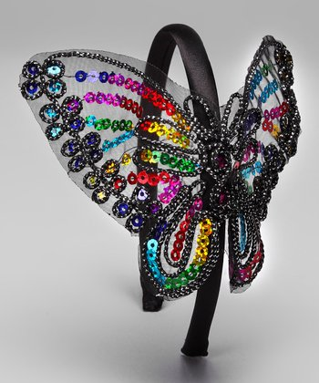 Rainbow Sequin Butterfly Headband